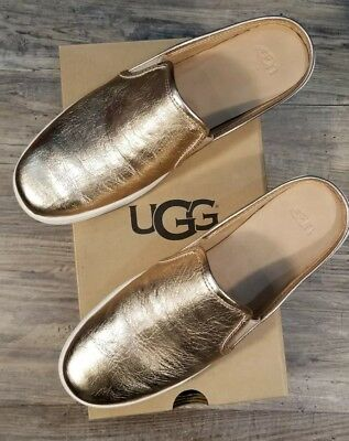 ff97cf5a518 UGG AUSTRALIA WOMEN'S LUCI METALLIC Rose Gold 1096354 Casual Slip On ...