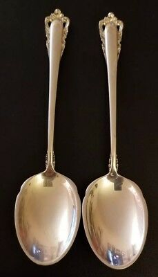 "2 Lunt Sterling Silver ""Carillon"" Spoons"