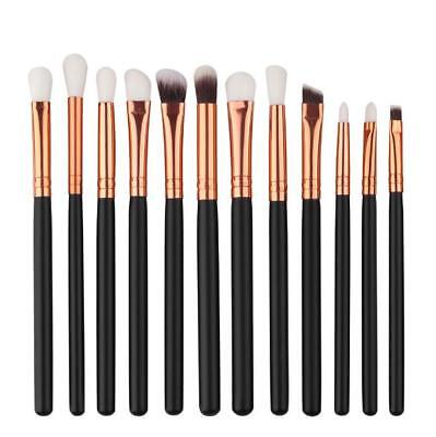 12x Professional Eyeshadow Blending Pencil Eye Brushes Set Makeup Cosmetic Black