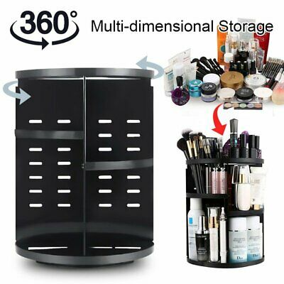 360° Rotating Makeup Organiser Storage Case Cosmetic Holder Display Stand Box