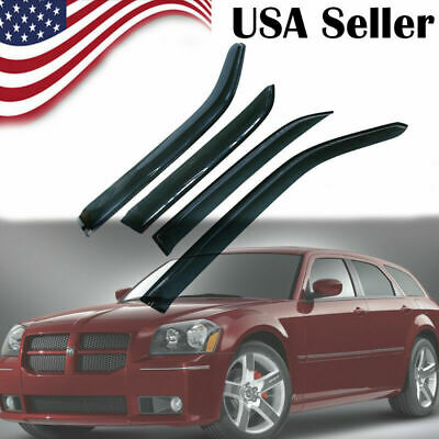 New ABS Window Vent Visor Sun Rain Guard For Dodge Magnum 2005 2006 2007 2008