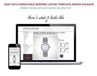Bespoke eBay Listing Template Design,Store banner Mobile Friendly-2018 Compliant