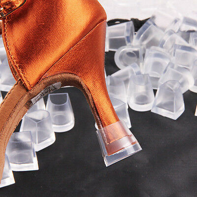 1 Pair Stiletto Women High Heel Protector Shoes Stopper Cover Clear Size  S+