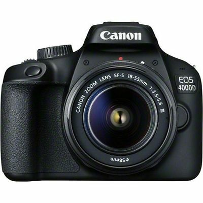 Canon EOS 4000D DSLR Camera and EF-S 18-55 mm f/3.5-5.6 III Lens New Original*au