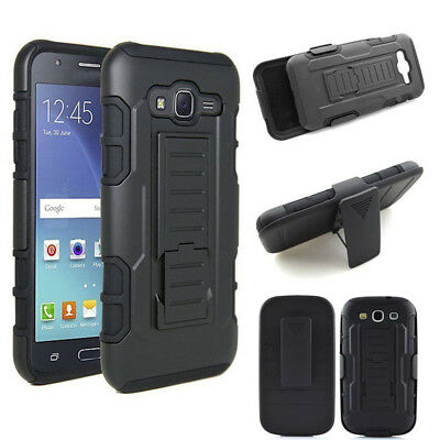New Hybrid Shockproof Armor Rugged Kickstand Phone Case Cover For Samsung Galaxy
