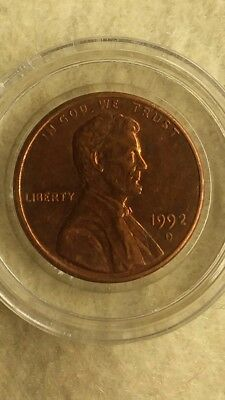 1992-D Lincoln Cent Close Am * Pcgs * Popular, Rare Variety *