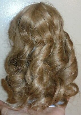 Antique Vintage Human Hair Doll Wig  Golden Size 6 4 French German Bisque Head