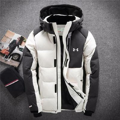 Under Armour Men's Winter Warm Thick Duck Down Jacket Snow Hooded Coat