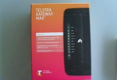 Telstra Gateway Max TG799vac NBN or ADSL2+ Modem/Wireless Router. Suit All ISPs