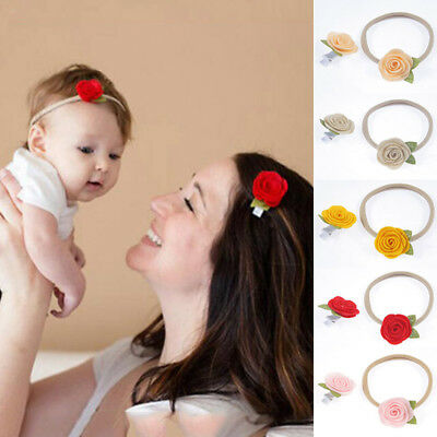 2/3/4Pcs Lace Pearl Baby Girls Infant Toddler Flower Bow Headband Hair Band