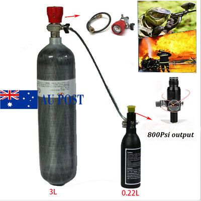 3L Air Cylinder Carbon Fiber+0.22L Aluminum Air Bottle For Mountain Climbing AU