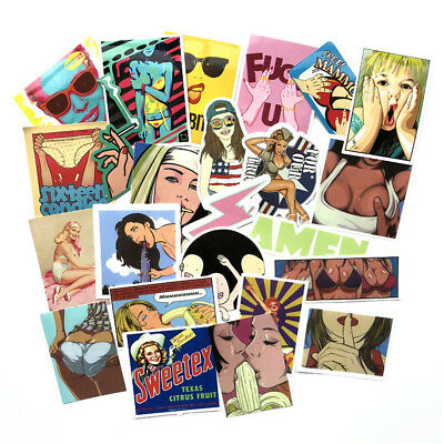 100Pcs Sexy Girl Skateboard Stickers DIY Laptop Luggage Stickers Decals Bomb