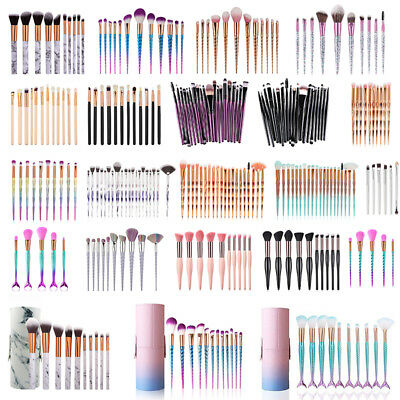 AU! Makeup Brush set Face Cosmetic Foundation Powder Blending Blush Eye Brushes
