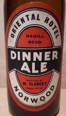 ORIENTAL HOTEL NORWOOD DINNER ALE PUB LABEL South Australia