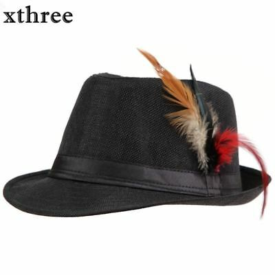 1 Feather for fadora  Trilby Gangster Beach Sun Straw Man woman hats hat extra