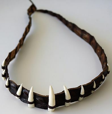 Genuine Crocodile Leather hat band 11 real teeth Fashion Durable Dundee outback