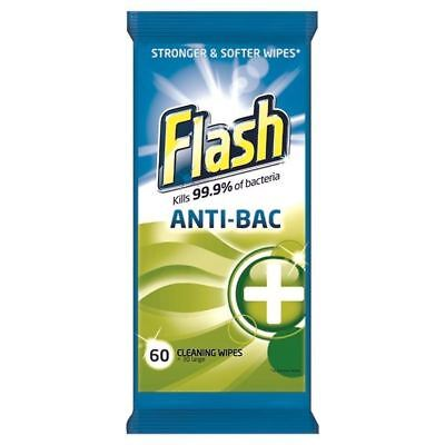 Flash Strong Weave Antibacterial Cleaning Wipes (Pack of 60) [PROMO-PX93718]