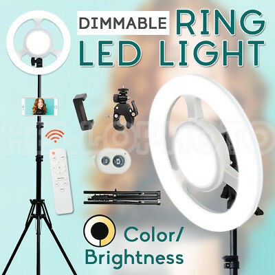 Mini Diva LED Ring Light Wheel Dimmable Make Up Studio SMD Diffuser Stand Lights
