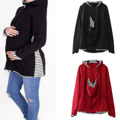 Fashion Jacket Kangaroo Maternity Outerwear Coat for Pregnant Women Baby Carrier