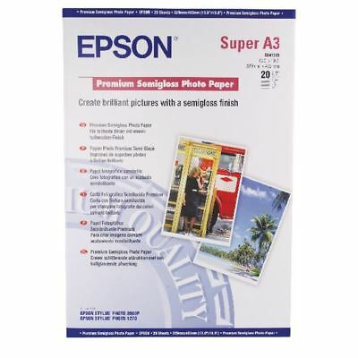 Epson A3 Premium Semi-Gloss Photo Paper A3+ 250gsm (Pack of 20) [EP82993]