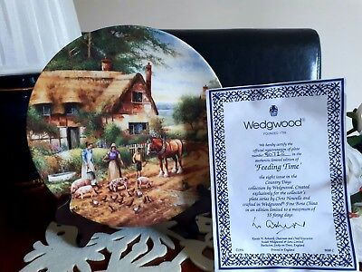 'FEEDING TIME'  Wedgwood Fine Bone China Collectors Plate - Country Days -