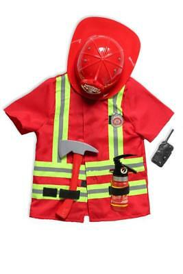 NEW Kiddie Connect Firefighter Costume with Hard Hat - Childrens Dress UP
