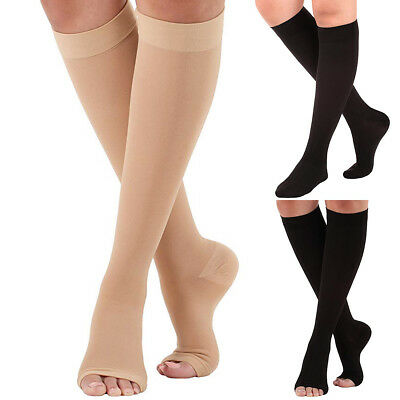 8e92302a1d 23-32mmHg Medical Compression Socks Knee High Support Stockings Open/Closed  Toe
