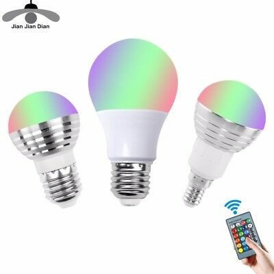 RGB LED Lamp 5W/10W E27 16Color Light Change Light Bulb with RemoteControl FR