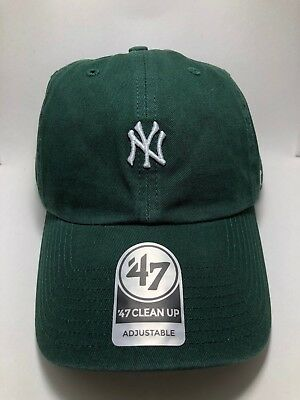 8d4c43165 Dark Green NY Yankees Mini Logo - 47 Brand Clean Up Adjustable Cap Free  Shipping
