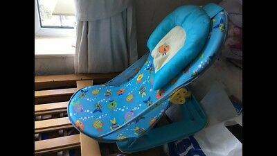 Summer Infant Deluxe Baby Bather Bath Support Chair Seat - Blue