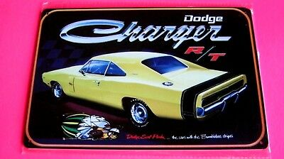 DODGE CHARGER R/T  Metal Tin SIGN Home Garage Shop Wall decor Car plaque