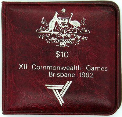 1982  Silver Uncirculated $10 Dollar Commonwealth Games Coin In Original Case