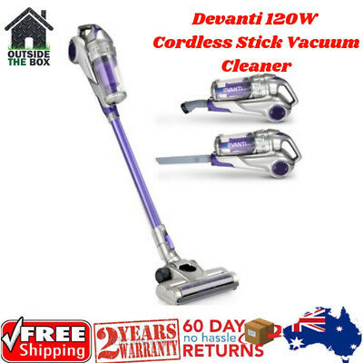 Devanti 120w Stick Vacuum Cleaner Cordless Handheld Rechargeable Bagless Vac New