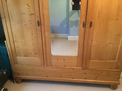 Large Reproduction Antique Pine Wardrobe