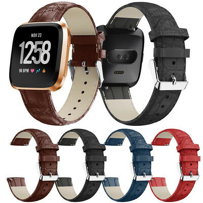 Luxury Leather Bands Replacement Quick Release Wristband Straps For Fitbit Versa