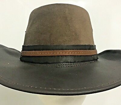 Buffalo leather Hat Band for all hats Australian made woman's man's
