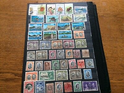 GRENADA SMALL SECTION OF STAMPS pack 68 lg