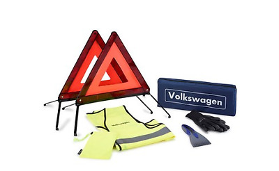 VW First Aid x2 Warning Triangles and Vest Kit Genuine 000093059L