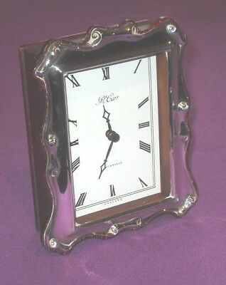 Vintage 1995 A Lovely Stylish Fully Hallmarked Sterling Silver Mantel Clock