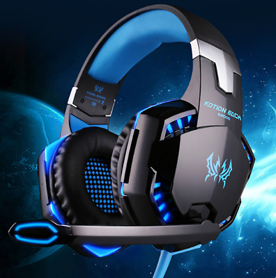 EACH 3.5mm Gaming Headset MIC LED Stereo Headphones for PC Laptop PS4 Xbox One