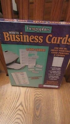 Geographics Royal Brites Business Cards White 1000 cards