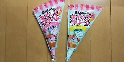 DAISO  Soft Clay make sweet cream 2SET PINK YELLOW F/S made in japan