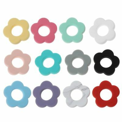 Silicone Beads Flower Holes Silicone 4.5cm DIY Accessories Baby Teething