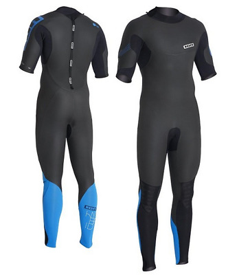 ION Mens Hybrid Steamer SS 4 3mm Wetsuit (Black) 298018c4a