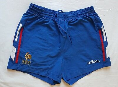 "Rare France Adidas football training shorts. 1996. 34"". Excellent condition."