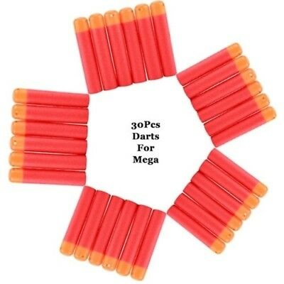 30pcs Toys Gun Soft Foam Darts for Nerf N-Strike Elite Mega Centurion Tips UK
