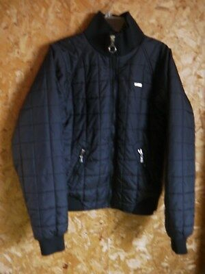 Boys Youth Calvin Klein Jeans Black Quilted Jacket/ Coat Size XL