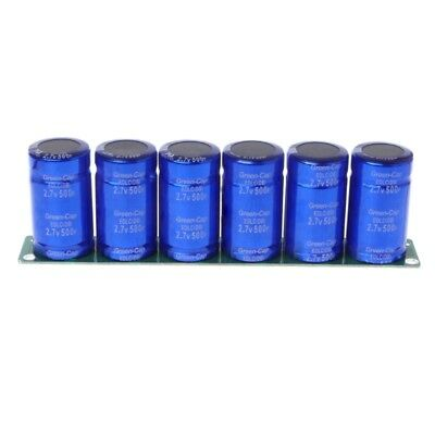 6 Pcs Farad Capacitor 2.7V 500F Super Capacitance With Protection Board1 Set