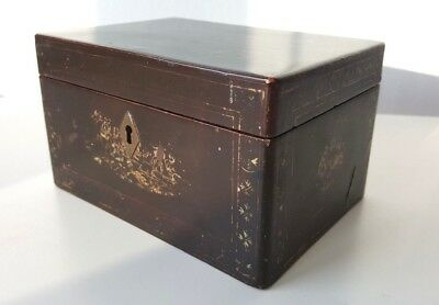 Early 19th Century Chinese Export Lacquer Tea Caddy