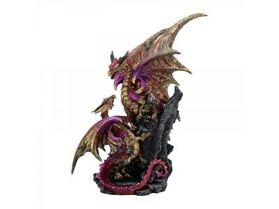 Nest guardian dragon statue figure by nemesis now gothic gift figurine U2050F6